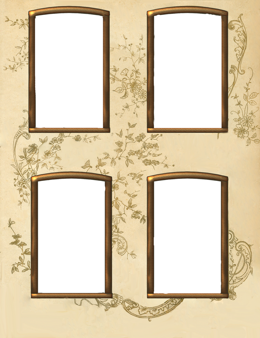 Vintage 4 window frame by jinifur on deviantart for Where to buy old windows for crafts