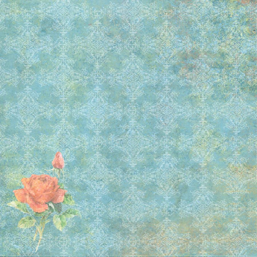 Shabby Blue Floral Bed Sheet Set