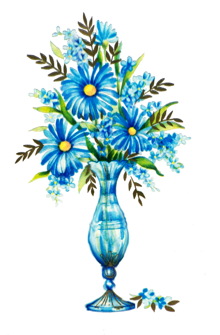 Blue flowers by jinifur on DeviantArt