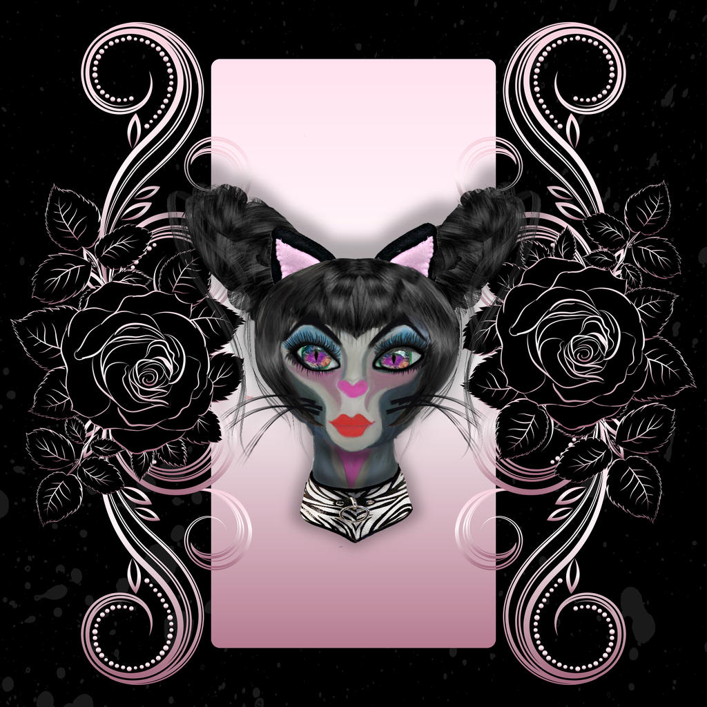 Pretty gothic kitty by jinifur