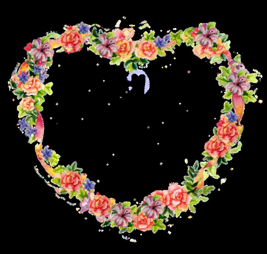 heart floral frame valentine - photo #33