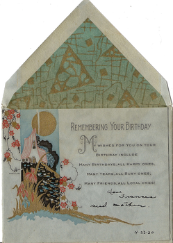Remember your birthday 1930