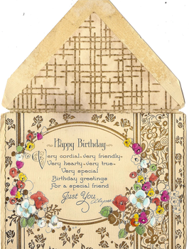 A cordial happy birthday