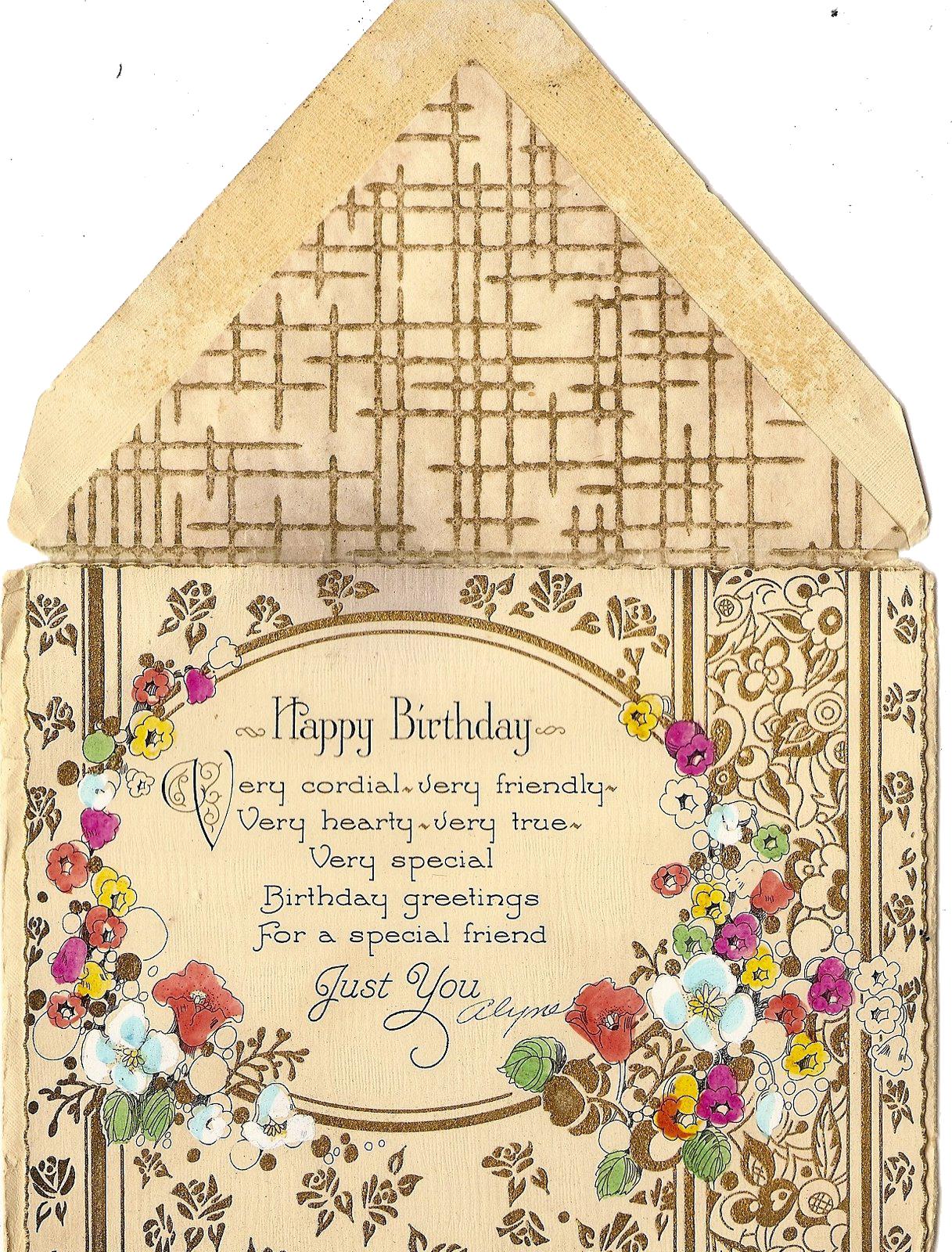 A cordial happy birthday by jinifur