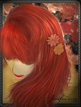 My crimson hair