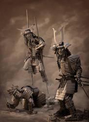 three samurai by danulrich