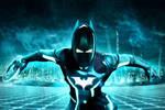 Batman in Tron