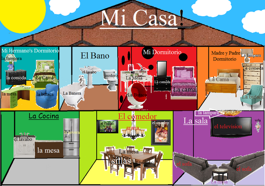 My dream house spanish project by vampirecat1 on deviantart for Floors of the house in spanish