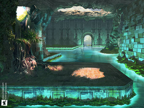 HIDDEN WATER PUZZLE: MATTE PAINTING GAME ART