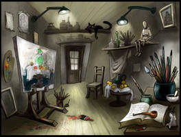 The Painter's Studio by kresbicky