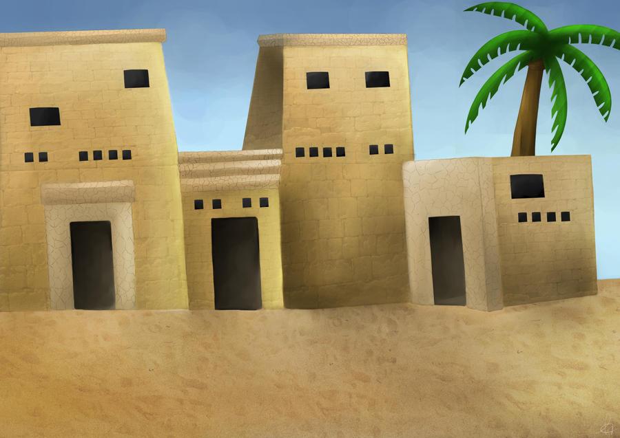 College Finals - Egyptian Landscape by shadowBlazeLOVER