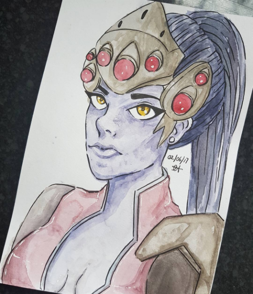 Widowmaker Watercolour by shadowBlazeLOVER