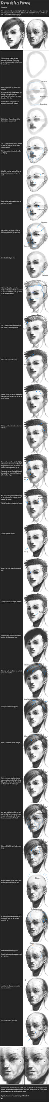 Tutorial: Greyscale Face Paint