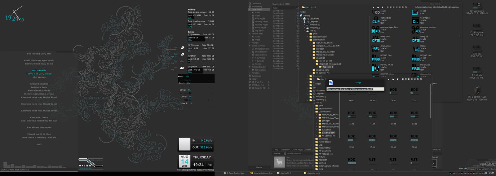 Real desktop WIP as of today by linearradiation