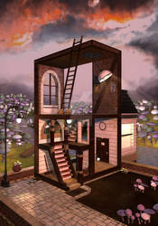 Escher 3D Render