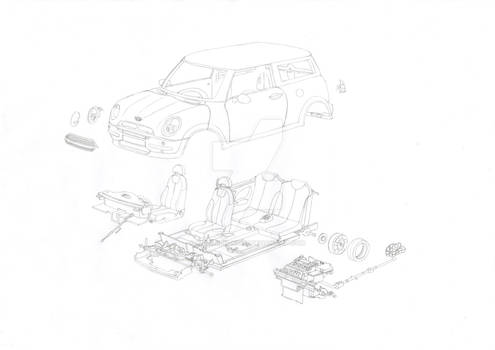 Exploded View of a Mini Cooper Kit