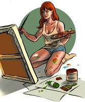 painting is attractive by AngieSG