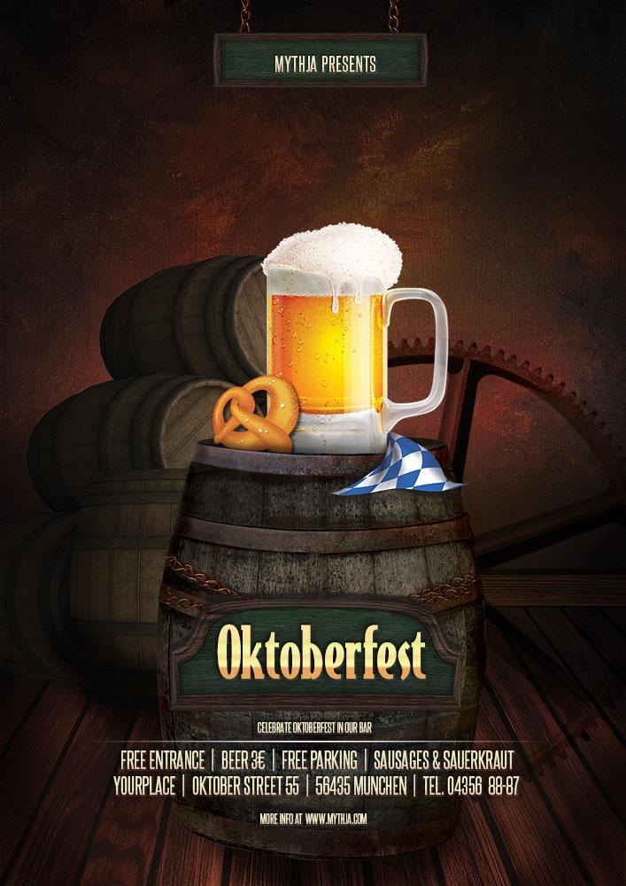 Oktoberfest vol.1 - party flyer/poster template by pixta on DeviantArt