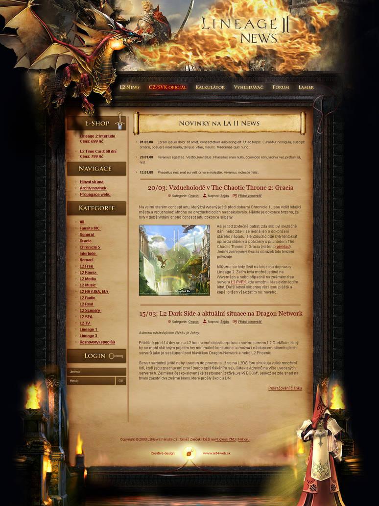 Lineage II website design by luqa