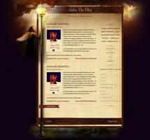 Adler Via fantasy blog design by luqa
