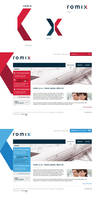 romix logo and web design