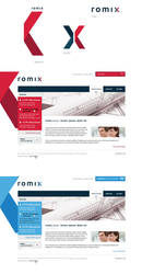 romix logo and web design by luqa