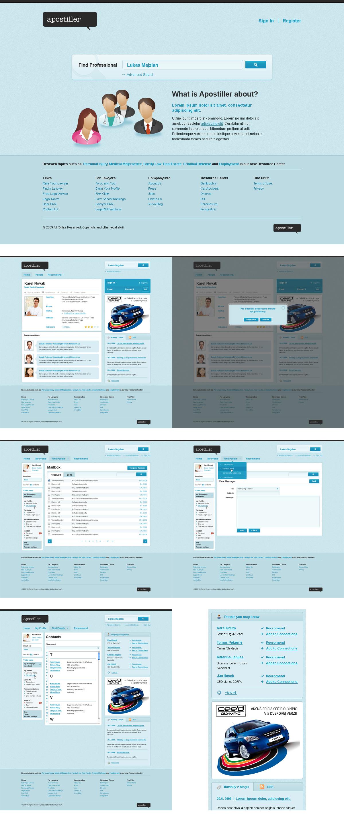 Apostiller social network by luqa