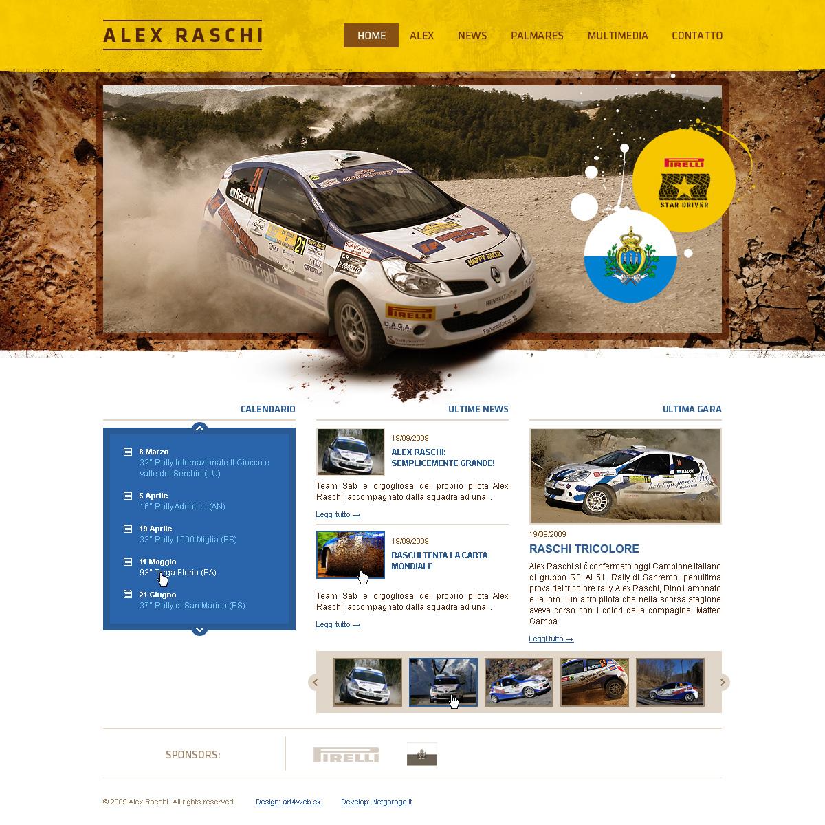 Alex Raschi rally driver web by luqa