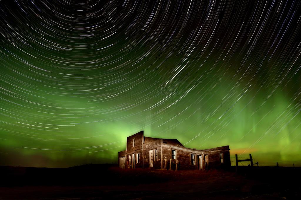 Aurora Star Trails by pictureguy