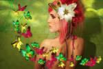 the girl of butterflies