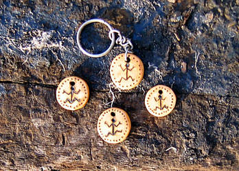 Etched wooden tags
