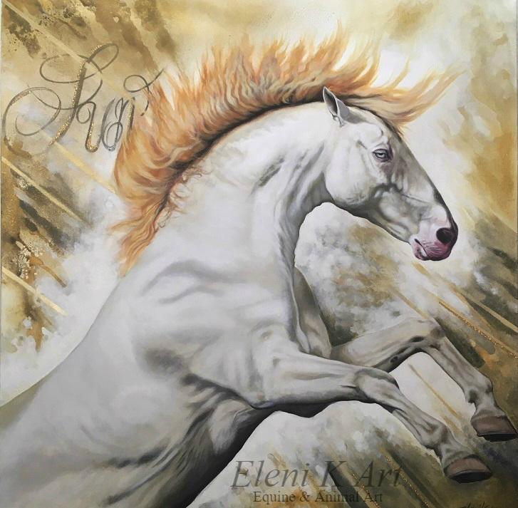Horse of the sun by EleniGKArt