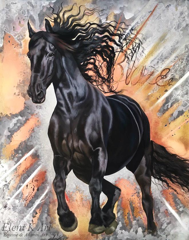 Horse of the Blaze by EleniGKArt