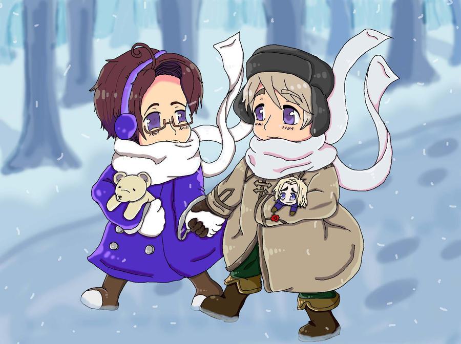 Walking in a Winter Wonderland by BabyWaluigi