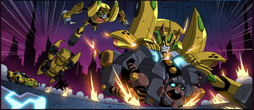 Cheetor vs Rattrap in Animated by FunPubComics