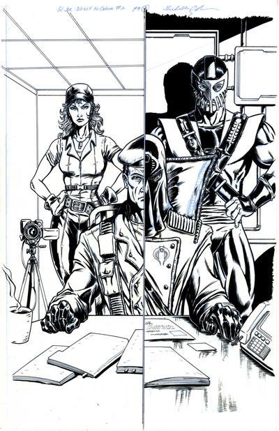 G.I. Joe DTC 2 Page 1 Inks by FunPubComics