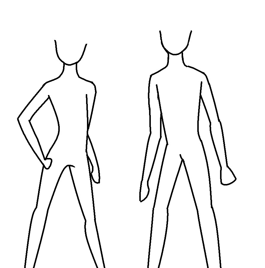 Line Drawing Woman Body : Body outlines by kawaiistar on deviantart