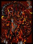 Warframe fan art Nidus by SmallishPoppy6