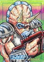 Triceraton sketch card by JLWarner