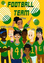Football Team - Grunge by CrossXComix