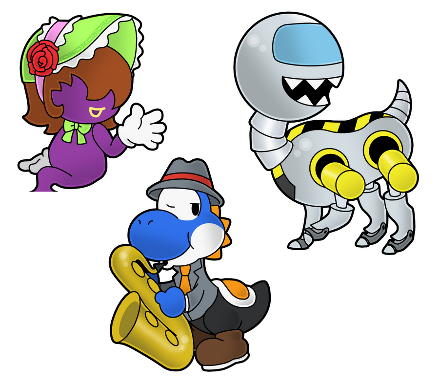 Paper Mario CTC Characters II By The-PaperNES-Guy On