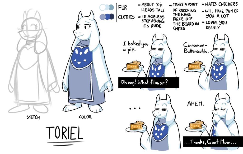 Toriel Reference Sheet By The-PaperNES-Guy On DeviantArt