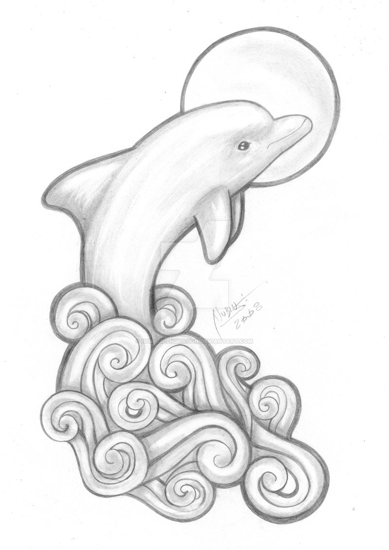 It's just an image of Astounding Dolphin Heart Drawing