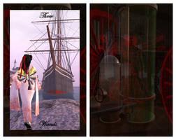 Steampunk Tarot Three of Wands by SgtSareth