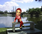 Kak Waheeda with KLCC view