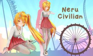 Neru Civilian Clothes DL by MentaLilnes