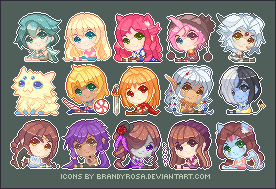 So many pixel icons by BrandyRosa