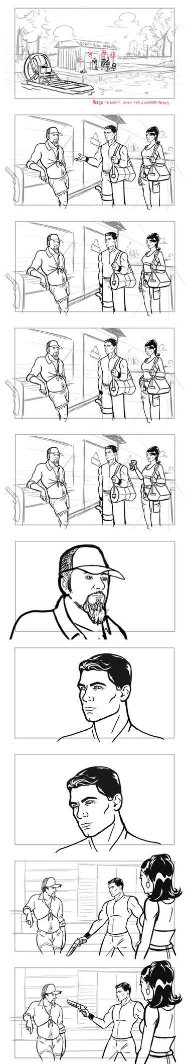 Archer 207 Storyboards Part 1 by cmbarnes