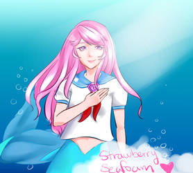Strawberry seafoam fanart by OtakuNekoStar