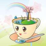 Cupful of Spring by Krisada